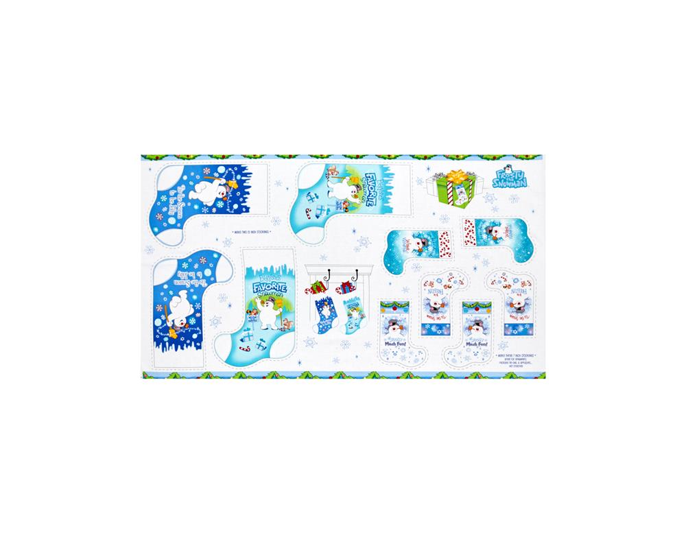 Frosty The Snowman 24in. Stocking Panel Blue