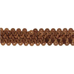 "7/8"" Stretch Metallic Sequin Trim Brown"