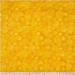 Island Batik Snowballs Yellow