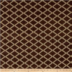 Diamond Chenille Jacquard Dark Brown