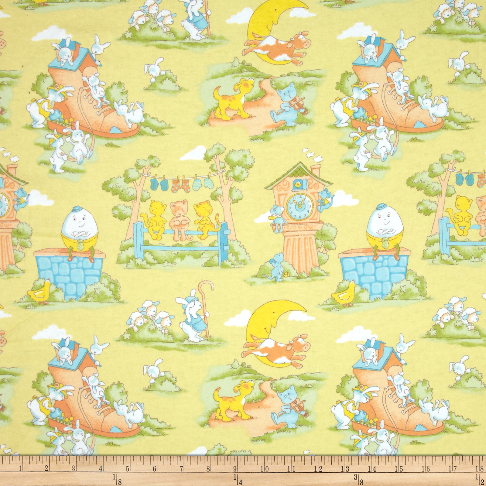 Nursery rhyme dot beige discount designer fabric for Yellow nursery fabric