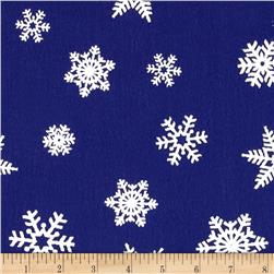 "Holiday Felt 9x 12"" Craft Cut White Snowflake Royal Blue"