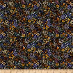 Liberty of London Kensington Crepe de Chine Elderberry Multi