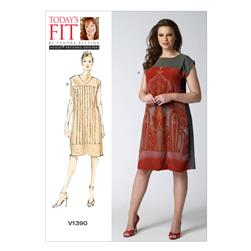 Vogue Misses' Dress Pattern V1390 Size OSZ