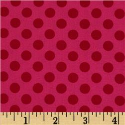 Kaufman Spot On Medium Dot Pomegranate