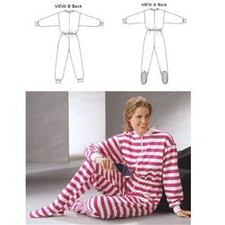 Kwik Sew Knit Front Zipper Pajamas & Jumpsuit