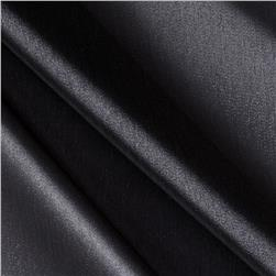 Stretch Satin Organza Jet Black