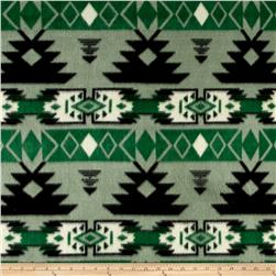 Southwest Fleece Navajo Black/Green