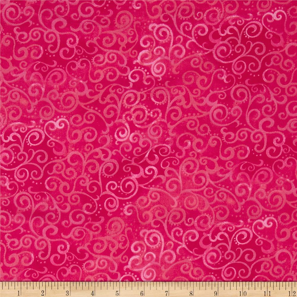 Quilting treasures 108 wide quilt back ombre scroll hot for Quilting material