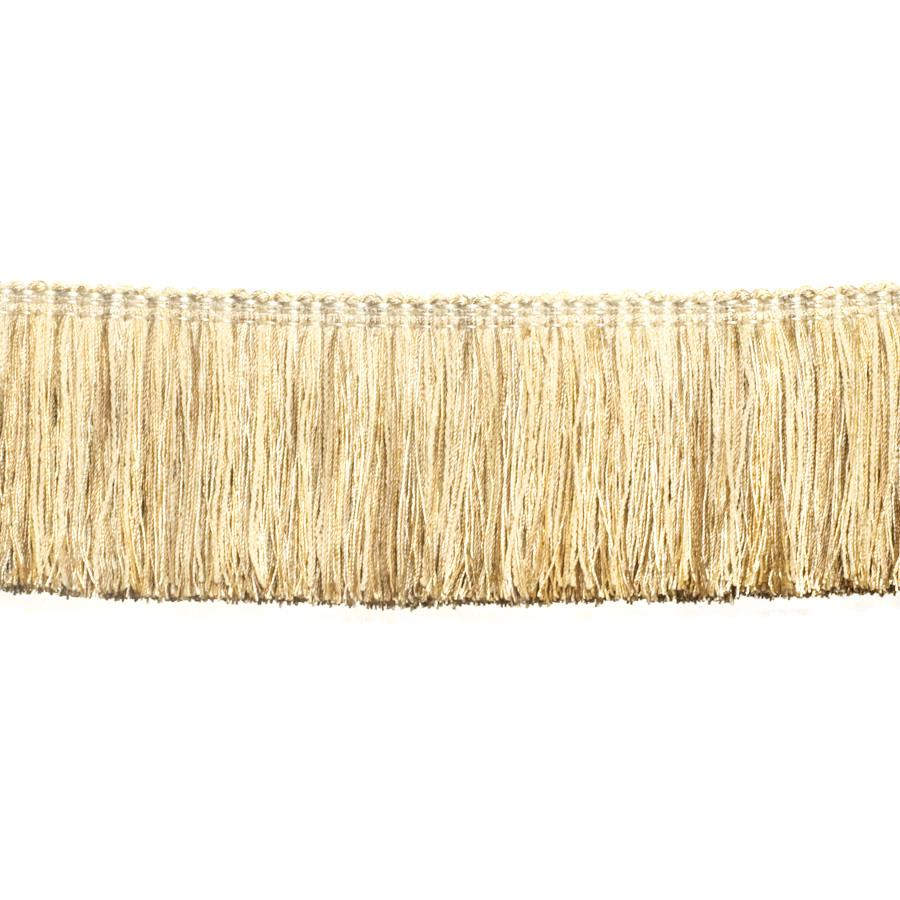 "Fabricut 2.5"" Festoon Brush Fringe Stucco"