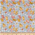 Penny Rose Linen and Lawn Floral Gray