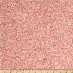 Garden Hideaway Heart Scroll Pink