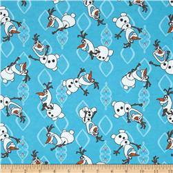 Disney Frozen Flannel Olaf Allover Blue