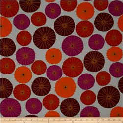 Kaufman Figment Geo Circles Wineberry