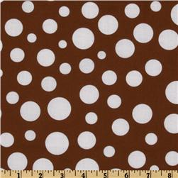 Michael Miller Lolli Dot Mud Brown Fabric