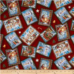 Christmas Day Postcards Red
