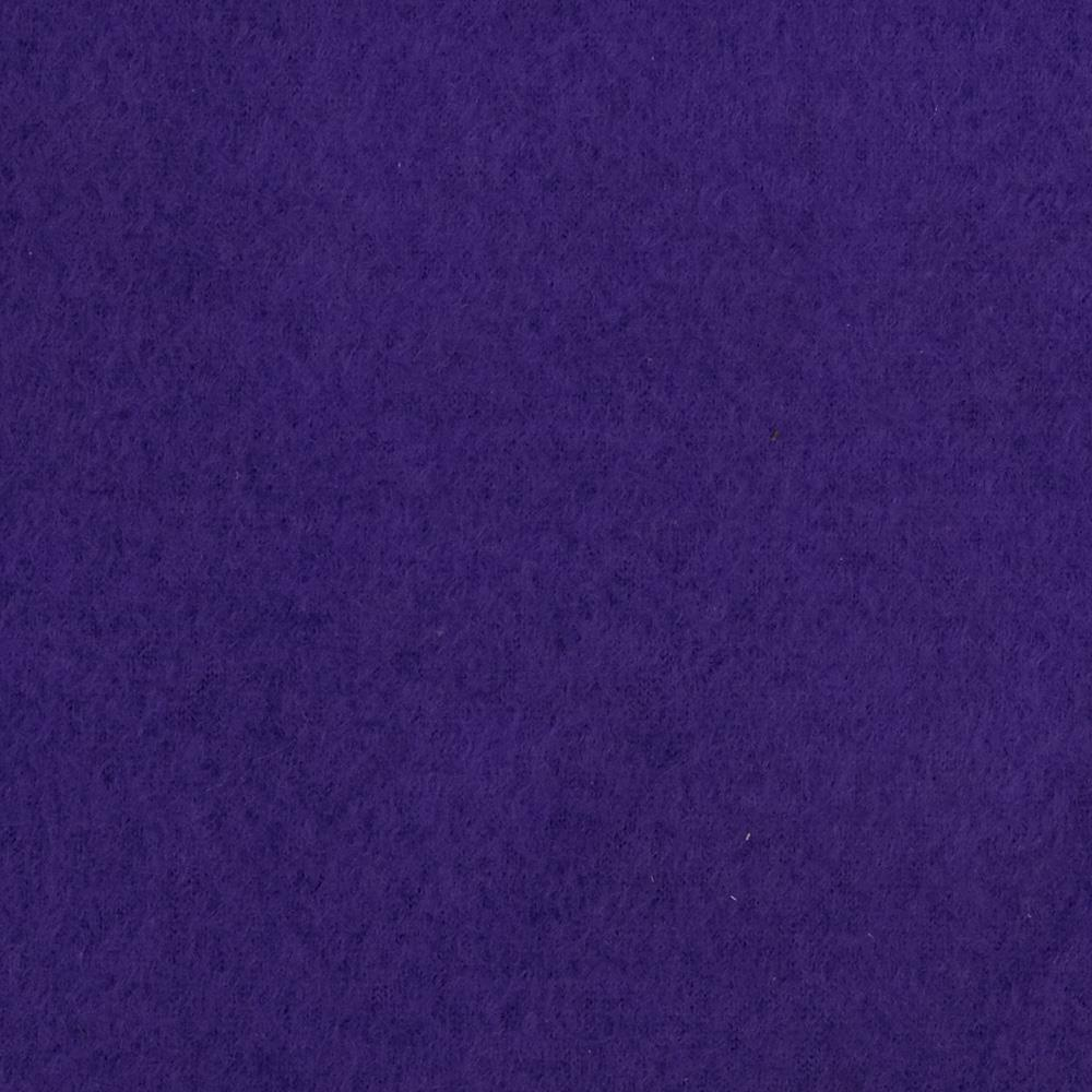 Warm Winter Fleece Solid Purple Fabric By The Yard