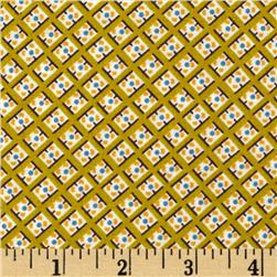 Denyse Schmidt Hadley Dot In Square Sunflower Fabric