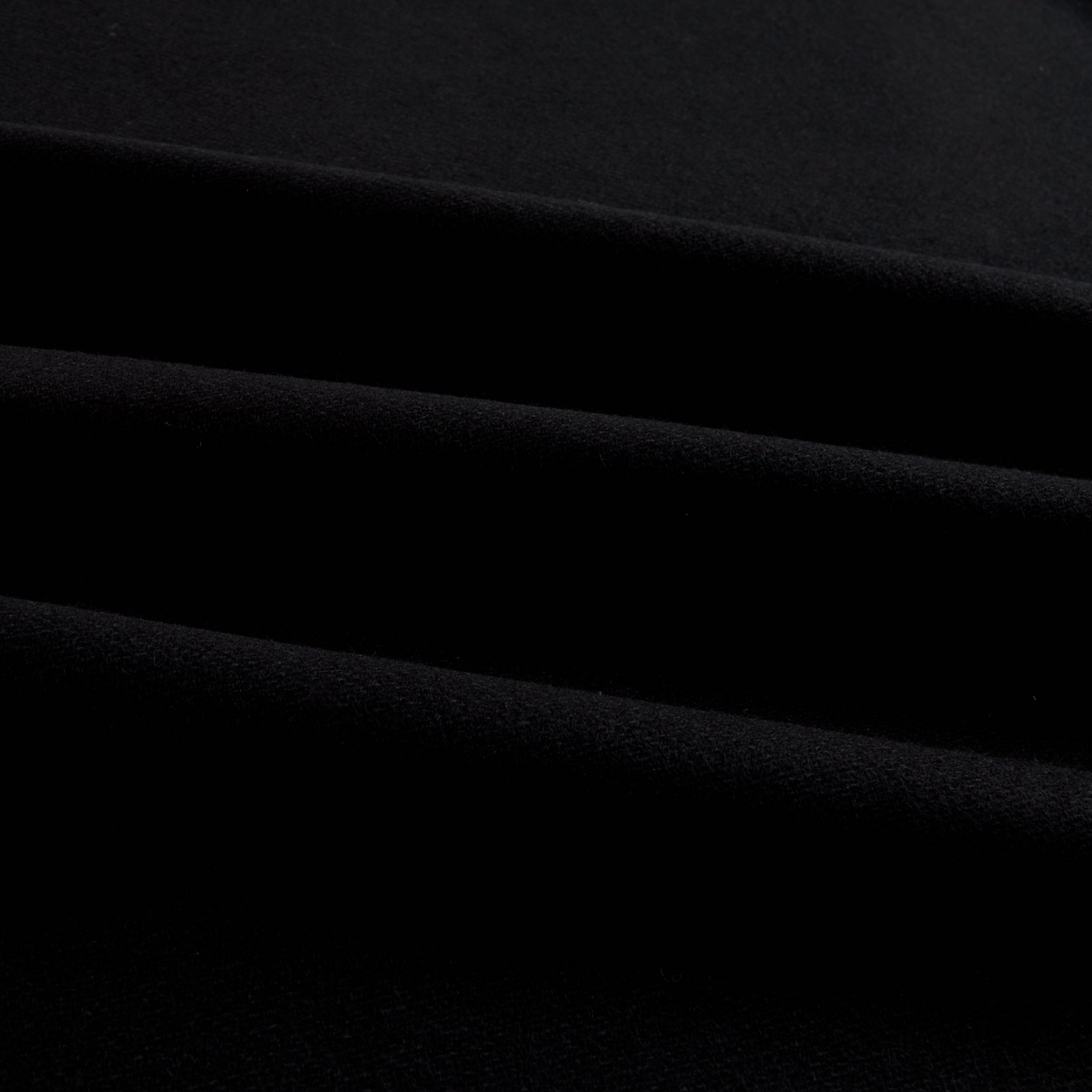 Wool Flannel Solid Black Fabric by Spechler-Vogel in USA