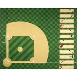 Sports Life 3 Baseball Field Panel Evergreen