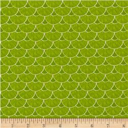 Sweet Tweet Sunshine Geo Lime Fabric