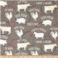 Farm to Table Animals Grey