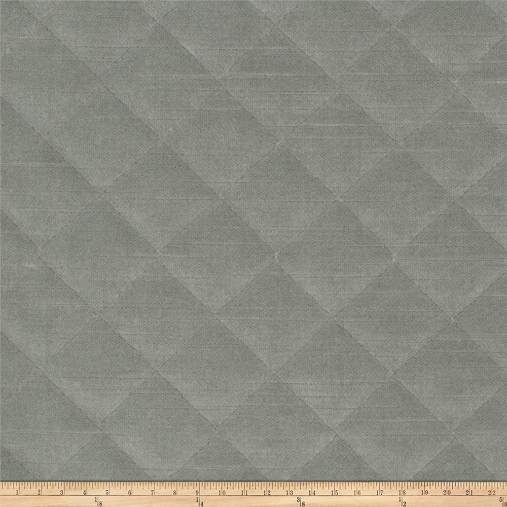 Fabricut Quilted Velvet Mineral