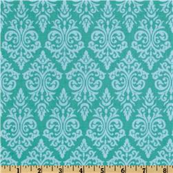 Vintage Vogue Damask Teal