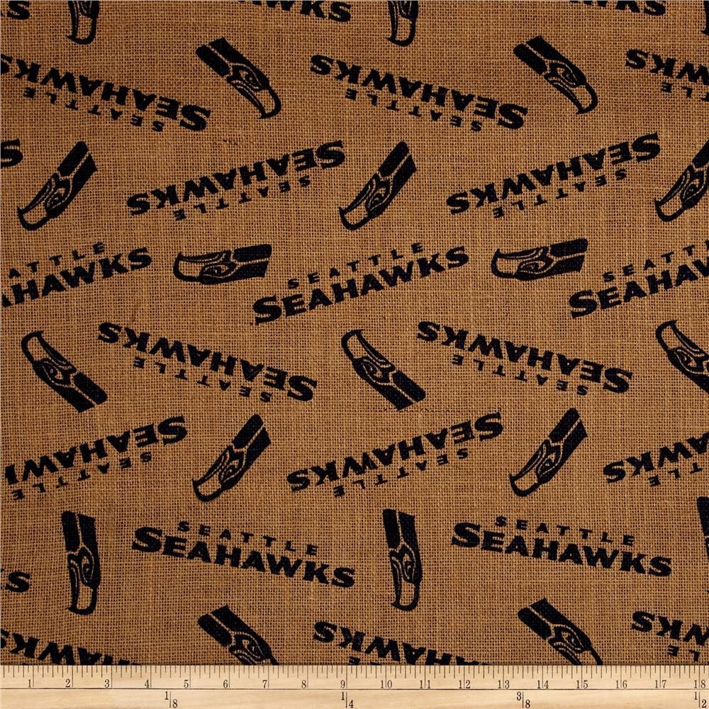 NFL Printed Burlap Seattle Seahawks