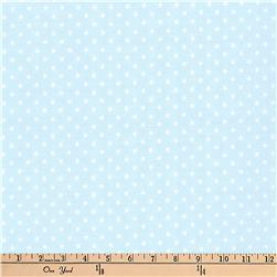 Kaufman Baby Basics Double Gauze Dot Baby Blue