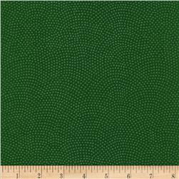 Timeless Treasures Dreaming in Pearle Dots Green