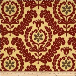 Tempo Indoor/Outdoor Floral Ikat Red