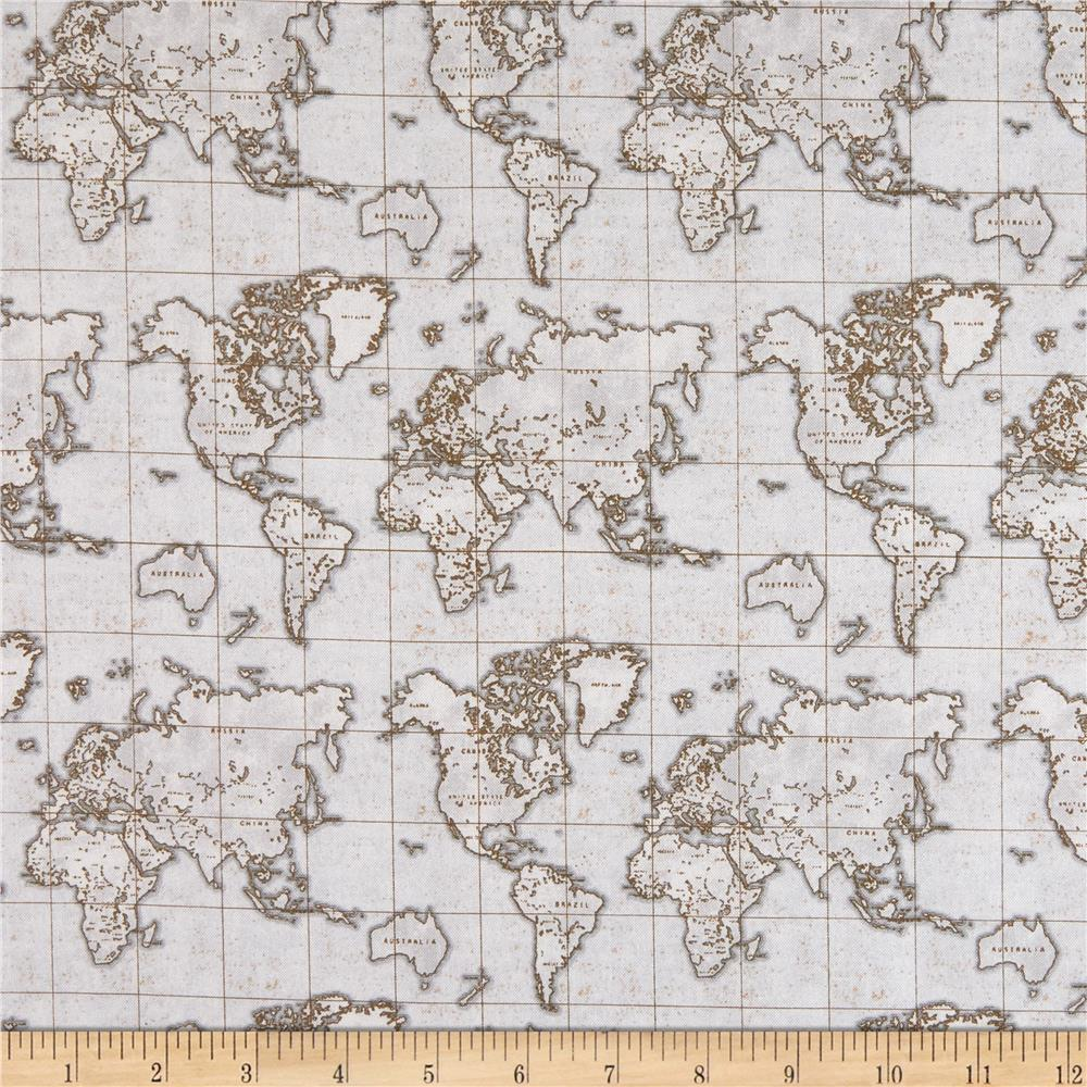 Whistler Studios Seven Seas World Map Grey