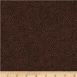 Timeless Treasures Pop Basic Circle Dots Brown