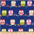 Hootie Tootie Cutie Owls On A Wire Royal