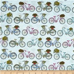 Antique Garden Bicycles Blue