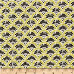 Michael Miller Pastel Pop Citron Grey Fannie Citron