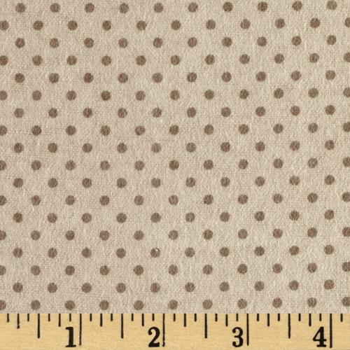 Flannel Small Dot on Brown Tonal