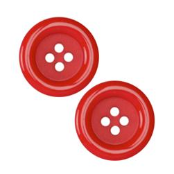 Fashion Button 7/8'' Pizazz Red