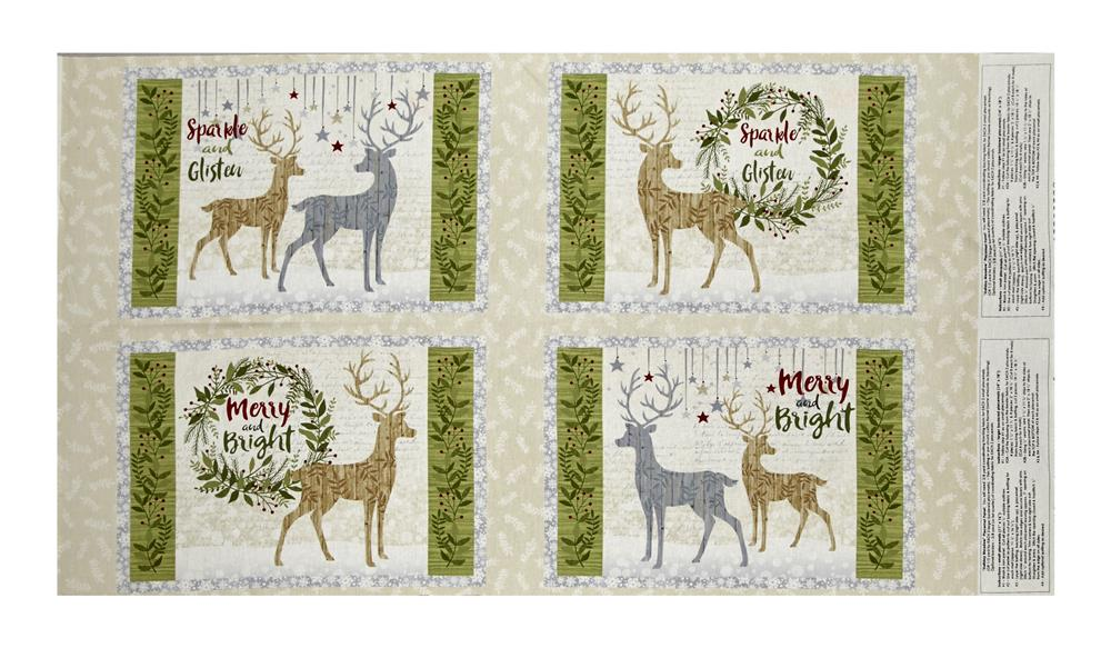 Holiday Meadow Placemat 24.5'' Panel Multi Fabric