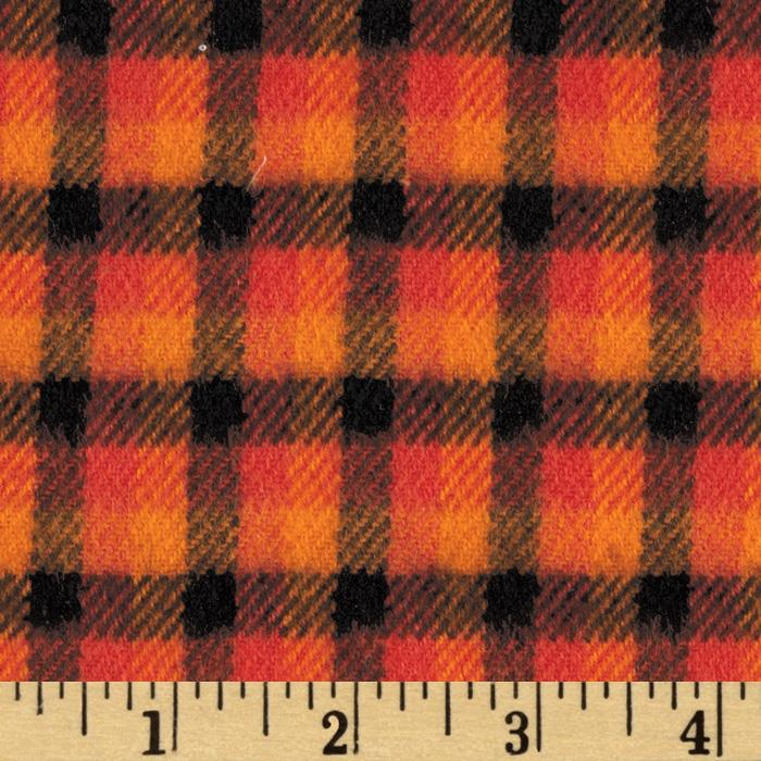 Primo Plaids Harvest Flannel Check Plaid Orange