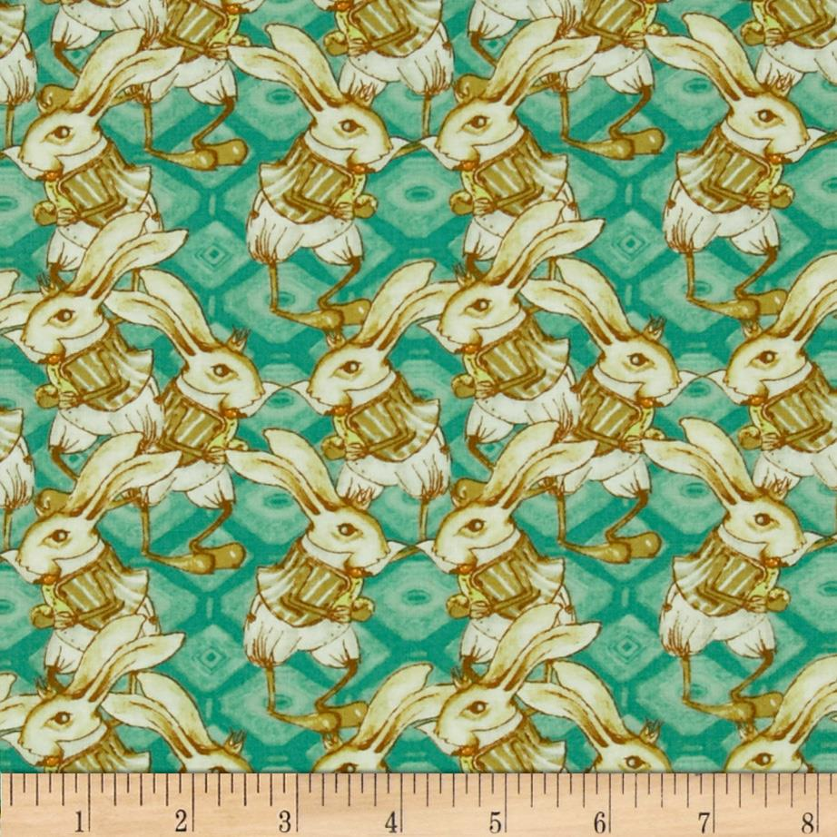 Tina Givens Riddles and Rhymes Bunny Rabbit Teal
