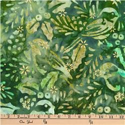 Kaufman Batiks Metallic Northwood Birds Forest