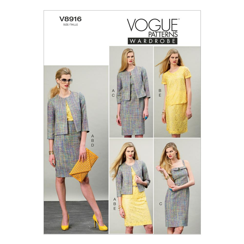 Vogue Misses' Jacket, Top, Dress and Skirt Pattern