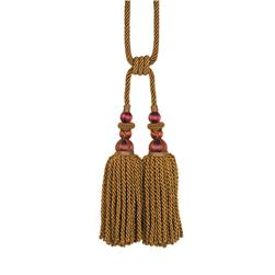 "Fabricut 31"" Bigelow Double Tassel Tieback Sunset"