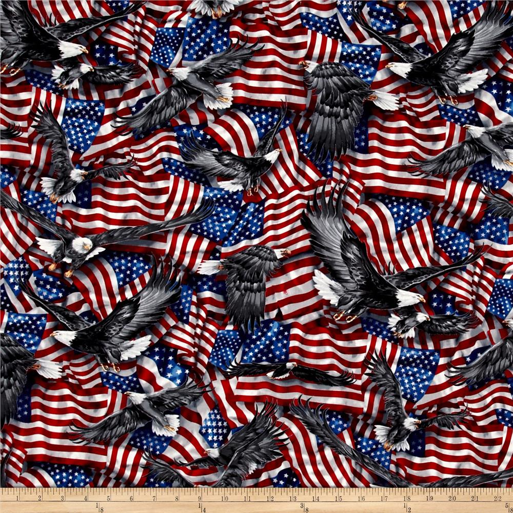 Kaufman Patriots Flags Americana Fabric By The Yard