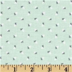 Riley Blake Sew Charming Rosebuds Mint Fabric