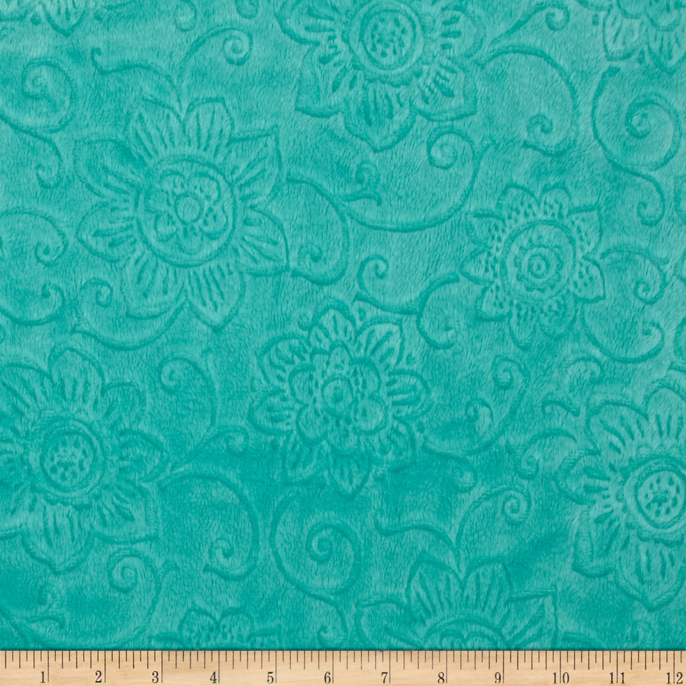 Minky Cuddle Spice Market Embossed Flower Malibu Fabric