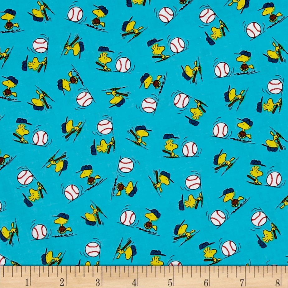 All Stars Woodstock Toss Turquoise Fabric by Quilting Treasures in USA