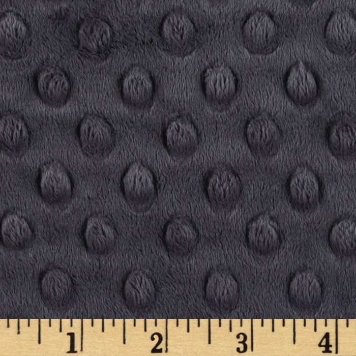 Minky Cuddle Dimple Dot Ash Grey Fabric